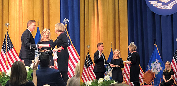 Ned Lamont was sworn in as eh 89th governor of CT by DP Partner Chase Rogers