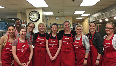 Day Pitney's Women Working Together in Boston Sponsored, Prepared, Served Dinner and Delivered Donations at Rosie's Place