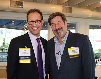 Josh Cohen and TMA CT Chapter Chairman David Weinstein